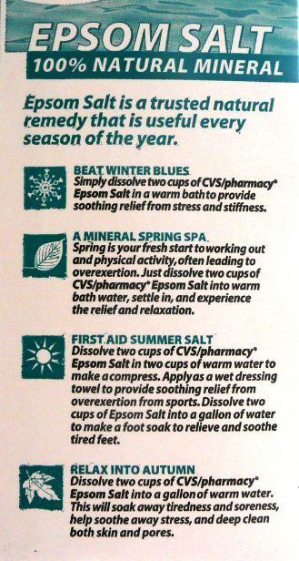 Epsom Salt Health Benefits Healthy Living Dynamics